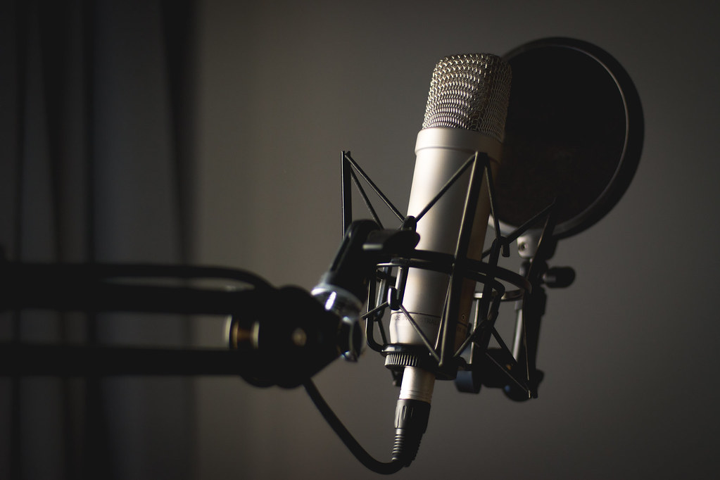 Podcast Microphone Background Image