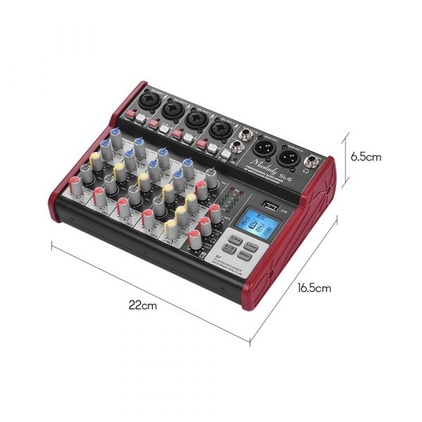 6 Channel Podcasting Audio Mixer